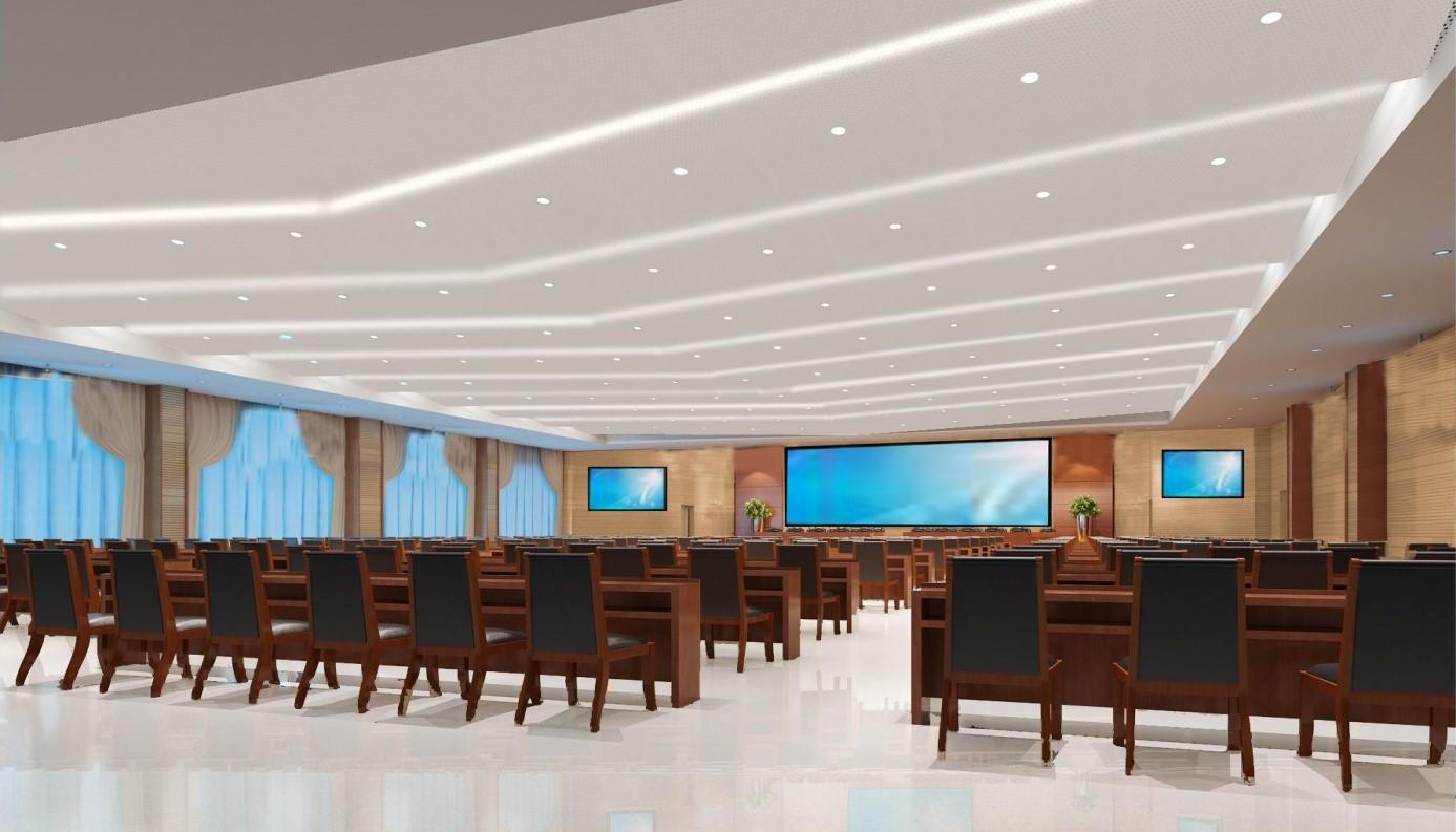 安徽六國化工股份有限公司景觀橋LED全彩屏及弘毅樓多媒體會議系統